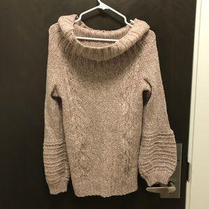 Anthropologie, Sleeping on Snow Cowl Neck Sweater